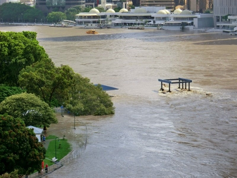 Brisbane Floods And Cyclone Yasi In Queensland Australia
