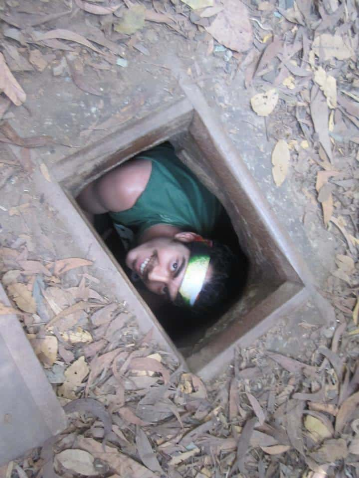 This Christmas I hid in a Viet Cong sniper hideout