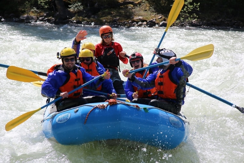 Rafting the Sunwapta River