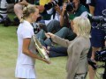 Wimbledon Centre Court, Kvitova and Sue Barker