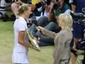 Wimbledon Centre Court, Kvitova and Sue Barker